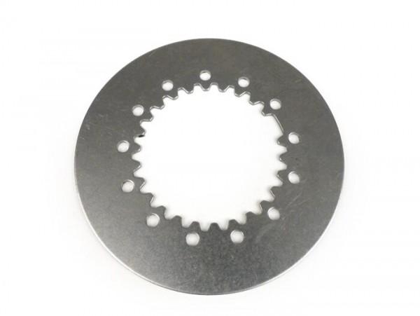 Kupplungsstahlscheibe -BGM ORIGINAL Vespa-Typ 6-Federn- Vespa PX80, PX125, PX150, TS, Sprint, GT, GTR, Super, GL, GS150 (VS5T), VNA2T (081469-), VNB, VBA, VBB  - 1,5mm