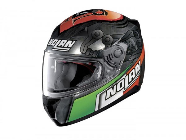 Casco -NOLAN, N60-5 Gemeni Replica M. Melandri- casco integrale, scratched chrome - S (56cm)