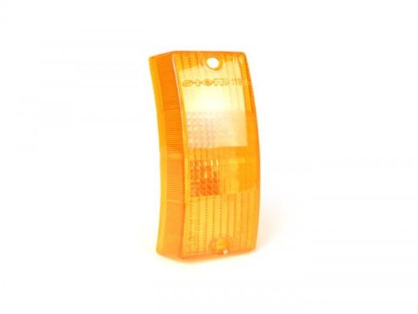 Blinkerglas -SIEM- Vespa PX80, PX125, PX150, PX200, T5 125cc vorne rechts - Orange