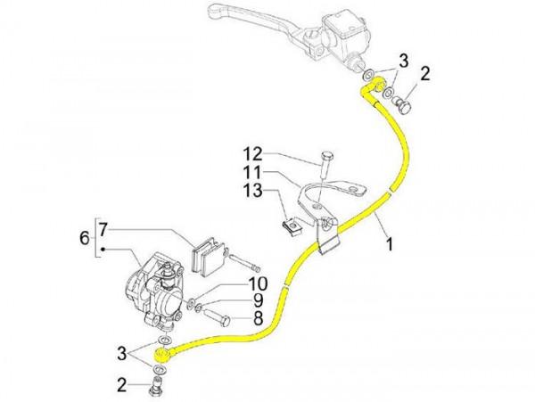 Bremsleitung vorne -PIAGGIO- Vespa LXV 50 (ZAPC381), LXV 125 (ZAPM443, ZAPM681)