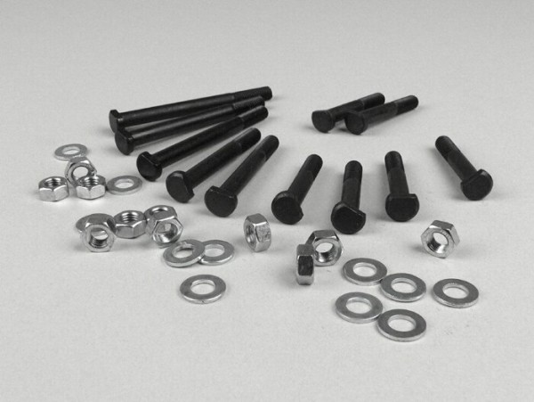 Engine casing bolt set -OEM QUALITY- Vespa V50, V90, PV125, ET3, PK S - 11 bolts