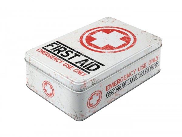 "Vorratsdose, flach -Nostalgic Art- ""First Aid Kit"" - 23x16x7cm (2.5l)"