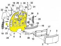 Gepäckfach -PIAGGIO- Vespa GT (ZAPM31), Vespa GTL (ZAPM31), Vespa GTS (ZAPM31, ZAPM45), Vespa GTV (ZAPM31, ZAPM45)