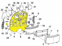 Boîte à gants -PIAGGIO- Vespa GT (ZAPM31), Vespa GTL (ZAPM31), GTS 125-300 (ZAPM31, ZAPM45), Vespa GTV (ZAPM31, ZAPM45)