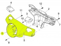 Lenkerverkleidung -PIAGGIO- Vespa GT (ZAPM31), Vespa GTL (ZAPM31), Vespa GTS (ZAPM31, ZAPM45)