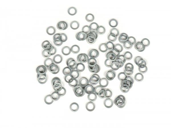 Spannscheibe - Schnorrscheibe - Sicherungsscheibe -DIN 6796- Federstahl, verzinkt - M6 - 100 Stück