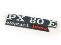Badge side panel -VESPA- PX80 E Lusso Elestart- Vespa PX80 (Bj. 1984-1997)