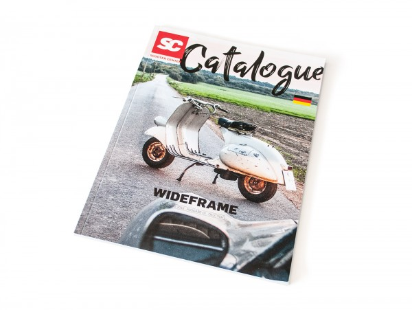 Catalogue -SCOOTER CENTER- Vespa Wideframe - Faro Basso, lamp down, V98, V1-33, VM, VN, ACMA, VB1T, VGL1T, VL1T, GS150 - German