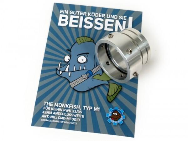 Vergaserstutzen -CMD The Monkfish Typ M1- Keihin PWK33, PWK35 - AW=Ø42mm
