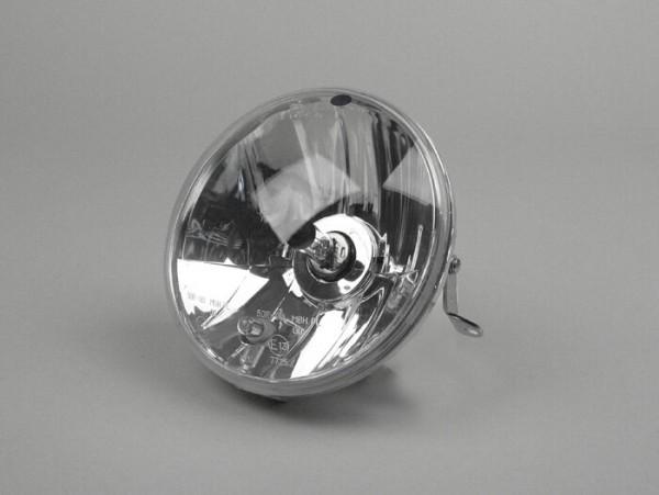 Scheinwerfer -PIAGGIO Ø=146mm- Vespa PX Lusso (ab Bj. 2001) - H4, Klarglas, Linksverkehr (mit Prüfzeichen)