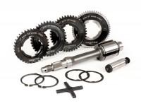 Gearbox (gear cogs incl. drive shaft) -BGM PRO- Vespa PX EFL, Disc, My, 2011 (1984-) - PX125 (VNX2T 232053-, ZAPM), PX150 (VLX1T 624602-, ZAPM), PX200 (VSX1T 315267-), Cosa, T5 125cc, LML Star 2-stroke, Stella 2-stroke - 12/57, 13/42, 17/38, 21/35 te