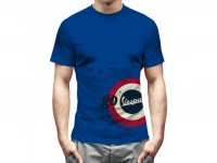 T-Shirt -VESPA- Herren - Low center of gravity - go Vespa - blau -
