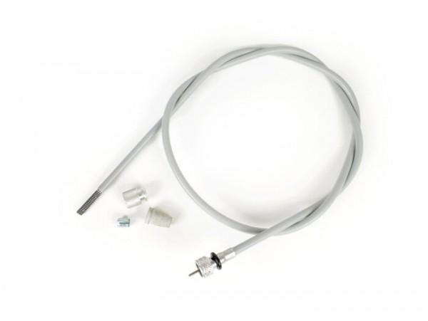 Cable cuentakilómetros -PIAGGIO- Vespa VN, VNA, VNB1, VNB2, VL, VB1, T4 (VGLA1T, -017604) - cuadrado, arriba 1,9mm, abajo 1,9mm