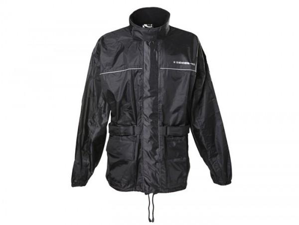 Waterproof jacket -SCEED 42- textile, black - 2XL