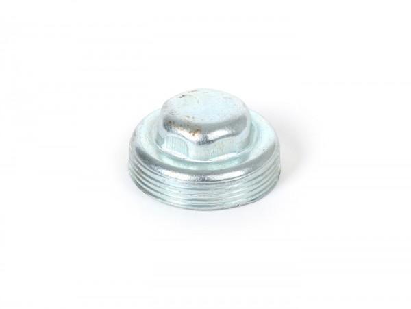 Threaded cap front hub bearing -VESPA- used for front wheel axle / suspension arm Vespa VNA, VNB, VBA, VBB, Super, GL, T4, Sprint, GT, GTR, Rally, TS