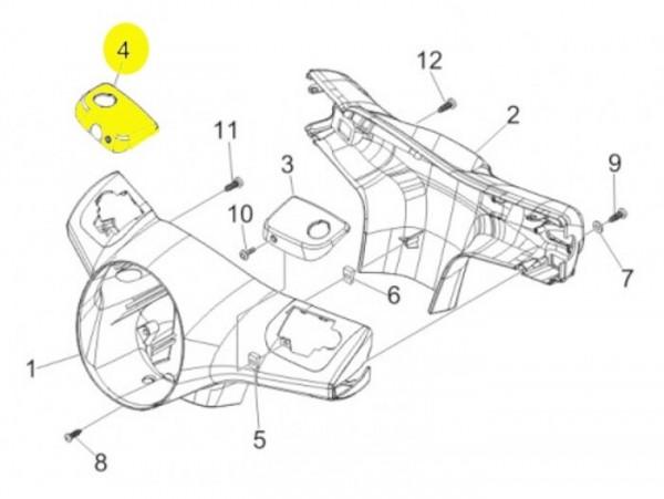 Brake master cylinder cover -PIAGGIO- Vespa GT (ZAPM31), Vespa GTL (ZAPM31) - rhs