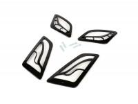 Blinkergitter-Set -MOTO NOSTRA- Vespa GT, GTL, GTV, GTS 125-300 - schwarz glänzend