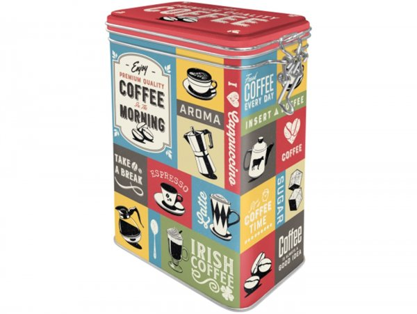 "Kaffeedose, Aromadose -Nostalgic Art- ""Coffee Collage"" - 7.5x11x17.5cm (1.3l)"