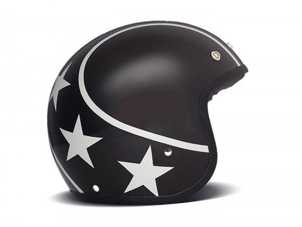 Helmet -DMD Jet Vintage- open face helmet, Stunt Silver - L (59cm)