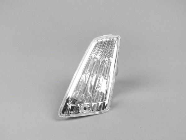 Intermitente -PIAGGIO Triom- Vespa GT, GTL, GTV, GTS 125-300 (-2013) - incoloro - cristal sin estriados - delantero izquierdo
