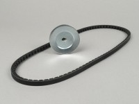 V-belt set -CIF- Piaggio Ciao with pulley Ø=70mm