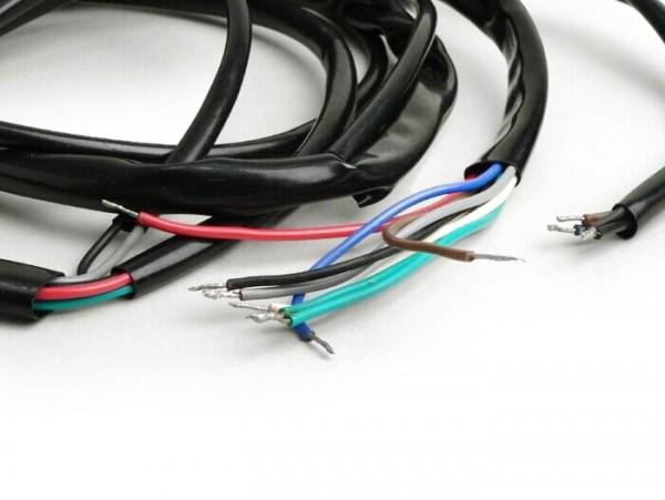 Mazo de cables -GRABOR- Vespa V50 (V5A1T) - soporte bobinas completo de encendido con 2 bobinas, bobina exterior, sin luz de freno