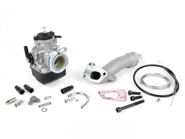 Kit carburador -POLINI 3 agujeros, 24mm Dellorto PHBL, distribuidor giratorio- Vespa PK XL