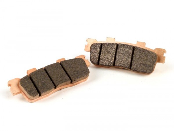 Brake pads -POLINI Sintered 90.0x33.3mm- Kymco Downtown 125I (SK25), Kymco Downtown 200I (SK40, 2010-), Kymco Downtown 300I (SK60, 2009-2010), Kymco Downtown 300I (SK60A, 2011-2012), Kymco People 300 GTI (BF60), Kymco Super Dink 125 I (SK25)