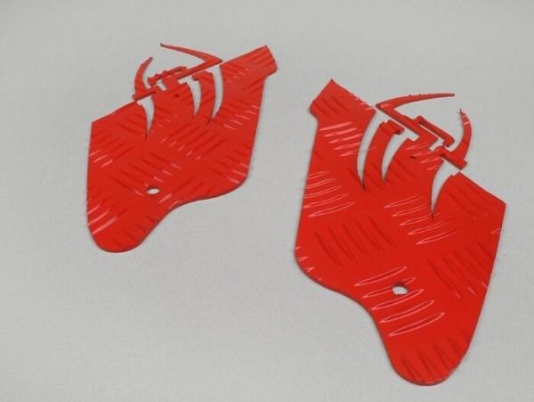 Riffelblech Alu -DF OPTICPARTS Style 16- Gilera Runner (bis Bj. 08.2005) - Hinterteil - Rot