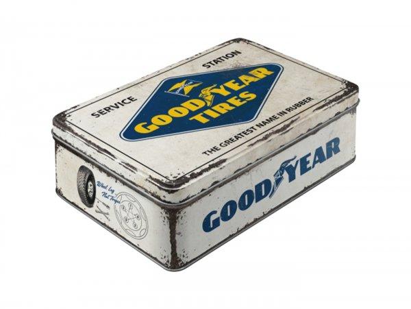 "Vorratsdose, flach -Nostalgic Art- ""Goodyear - Logo White"" - 23x16x7cm (2.5l)"