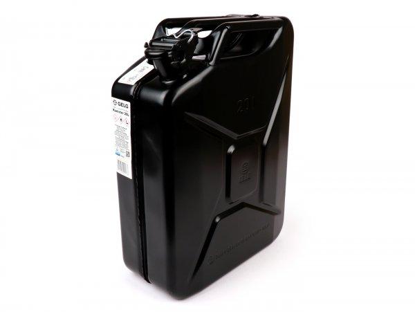 Bidón de gasolina 20l -FA ITALIA, metal- negro (RAL9005)