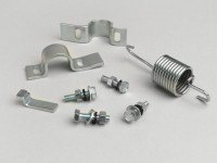 Center stand bracket kit -OEM QUALITY- Vespa Sprint150 (VLB1T), Rally180 (VSD1T), Rally200 (VSE1T), Super, GT125 (VNL2T), GTR1+D4+D2:K4+D2:L4+D2:AB4+D2:T4+D2:Q4+D2:O4+D2:M4+D2:J4+D2:I4+D2:J4+D2:K4