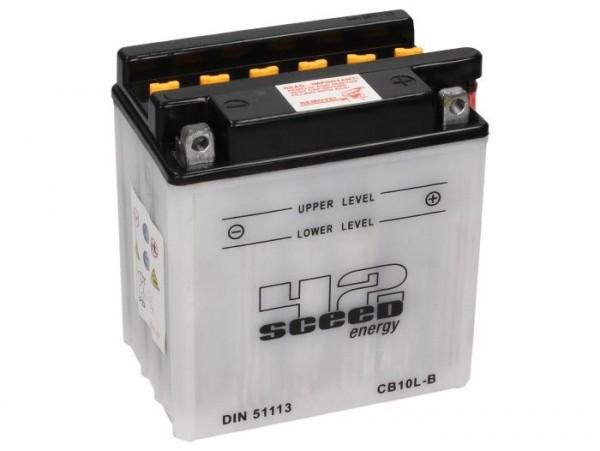 Batterie -Standard SCEED 42 Energy- CB10L-B - 12V, 11Ah - 136x91x146mm (inkl. Säurepack)