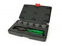 Interchangeable ratchet crimping pliers tool kit -TOPTUL- incl. 5 adjustable jaws
