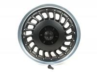 Llanta -PIAGGIO 3.00-12 pulgadas-Vespa 946 - delantero - llanta plateado brillante, disco de llanta negro mate