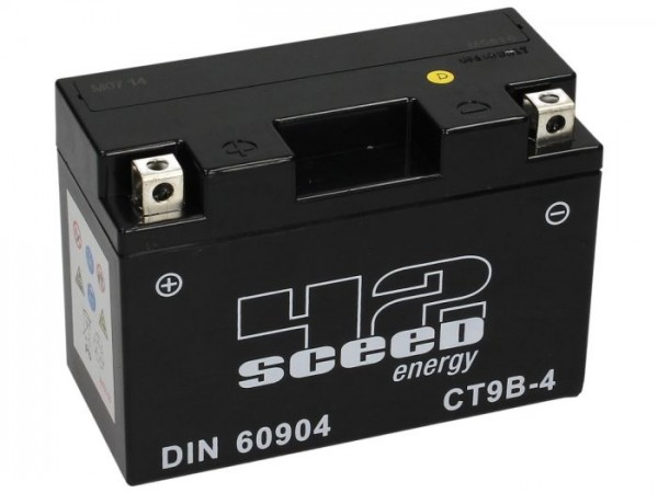Batterie -Gel SCEED 42 Energy- CT9B-4 - 12V, 8Ah - 150x69x105mm