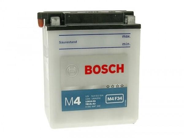 Batterie -Standard BOSCH YB14L-A2 / 12N14-3A- 12V 14Ah -134x89x166mm (inkl. Säurepack)