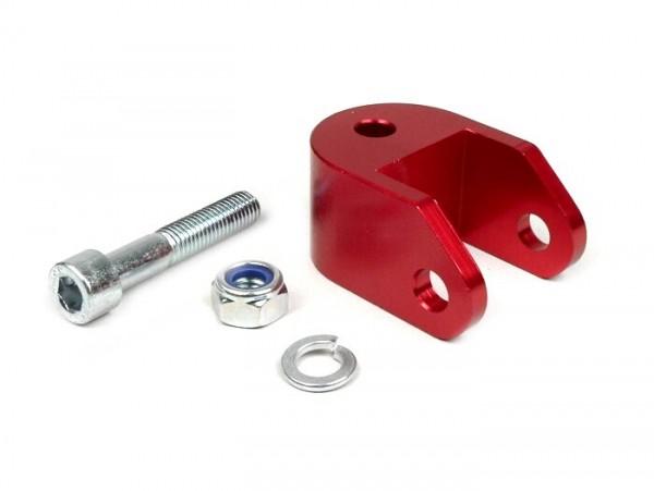 Kit prolongador de amortiguador -BGM- 40mm (M10x33mm, tipo Piaggio) - rojo