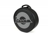 Valise -PIAGGIO- noir - Vespa 946 - se monte sur porte bagages, simili-cuir- pour porte bagages réf. 1B000008