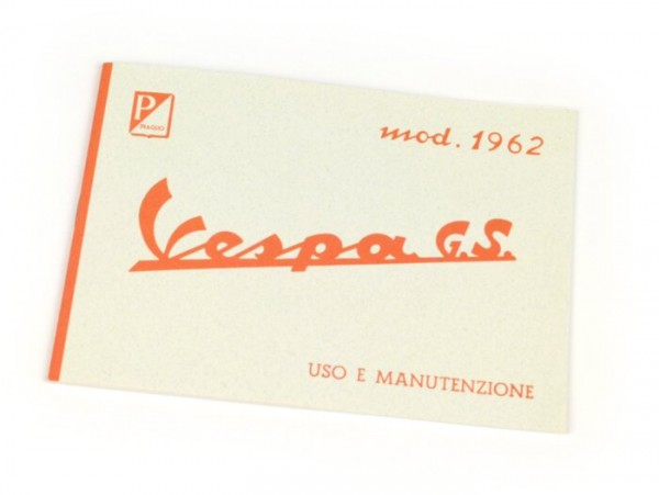 Owner's manual -VESPA- Vespa GS 160 (1962)