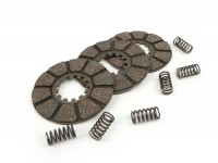 Clutch friction plate set -CASA LAMBRETTA- Lambretta model A, B, C & LC, D & LD (incl. springs)