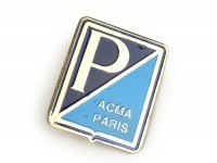 Badge horn cover -VESPA- Piaggio A.C.M.A. Paris rectangle - (from 1959), Vespa 125 ACMA, Vespa 150 GL ACMA, Vespa 150 GS ACMA - to fix with glue