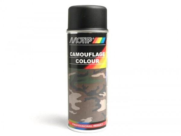Vernice spray -MOTIP- Camouflage nero (RAL9021) - 400ml