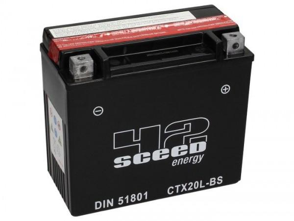 Batterie -Wartungsfrei SCEED 42 Energy- CTX20L-BS - 12V, 18Ah - 175x86x154mm (inkl. Säurepack)