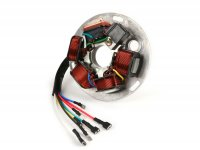 Ignition -BGM ORIGINAL stator plate V2.5 silicone- Vespa P-range (with battery 1982-1984) - 7 wires