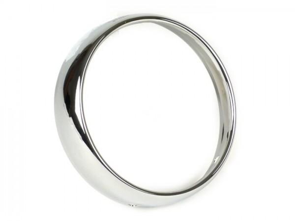 Scheinwerferzierring -SIEM Ø=115/120mm (Glas/außen)- Vespa VB, GS150 / GS3 (VS1T bis VS3T) - Chrom