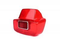 Taillight lens -SIEM- Vespa vintage large - Vespa 125 VNB (VNB6T), GL (VLA1T), Sprint (VLB1T till no. 025478), SS180 (VSC1T till no. 0018000) - red