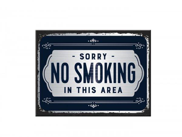 """Magnet -Nostalgic Art- """"Sorry, No Smoking"""" - 6x8cm"""