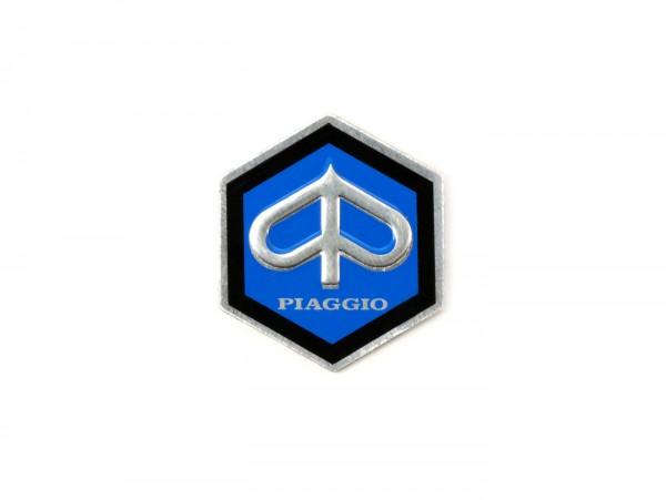Badge handlebar -OEM QUALITY- Vespa Piaggio hexagon - Vespa Rally180 (VSD1T) (since 1968), Vespa Sprint150 (VLB1T) Veloce (since 1969), Vespa GTR125 (VNL2T) 125 (since 1969), Vespa TS 125 (since 1975)