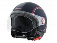 Helmet -VESPA  open face helmet Modernist- ABS- blue red white-  S (55-56 cm)